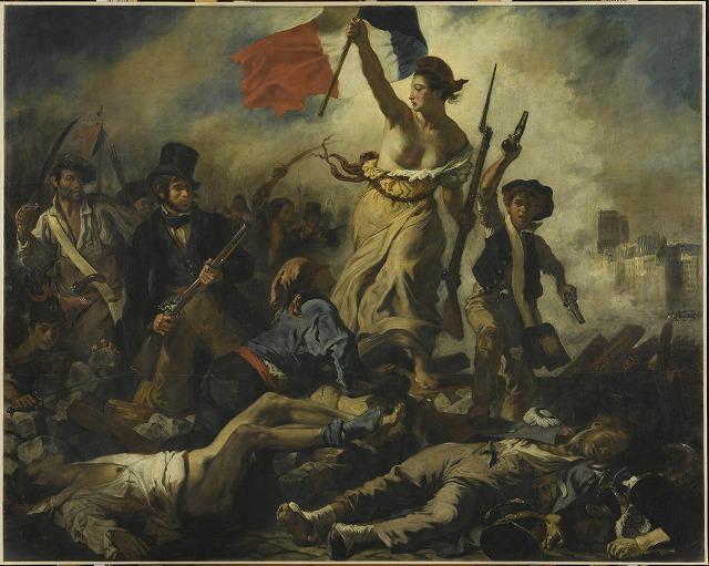 ウジェーヌ・ドラクロワ 『民衆を導く自由の女神』