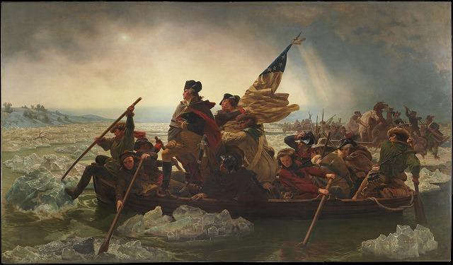 エマヌエル・ロイツェドイツ  『デラウェア川を渡るワシントン』