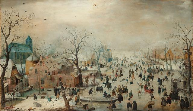 ヘンドリック・アーフェルカンプ 『スケートをする冬の風景』