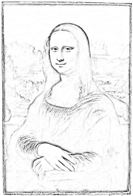 レオナルド・ダ・ヴィンチ『モナ・リザ』塗り絵
